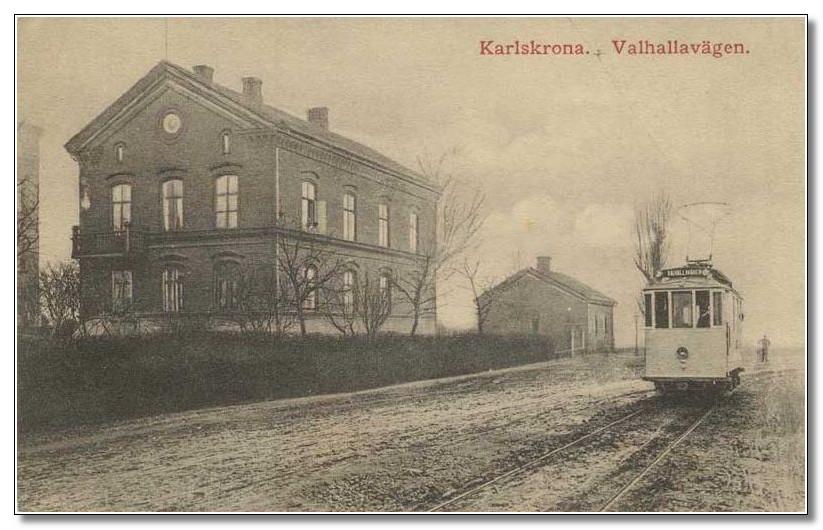 Karlskrona. Valhallavägen.