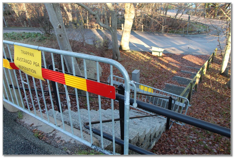 Trappan mellan Idrottsvägen och Erik Dahlbergsgatan 2019-11-30