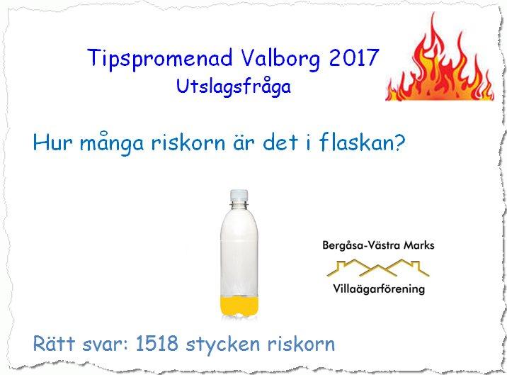 Tipspromenad Valborg 2017