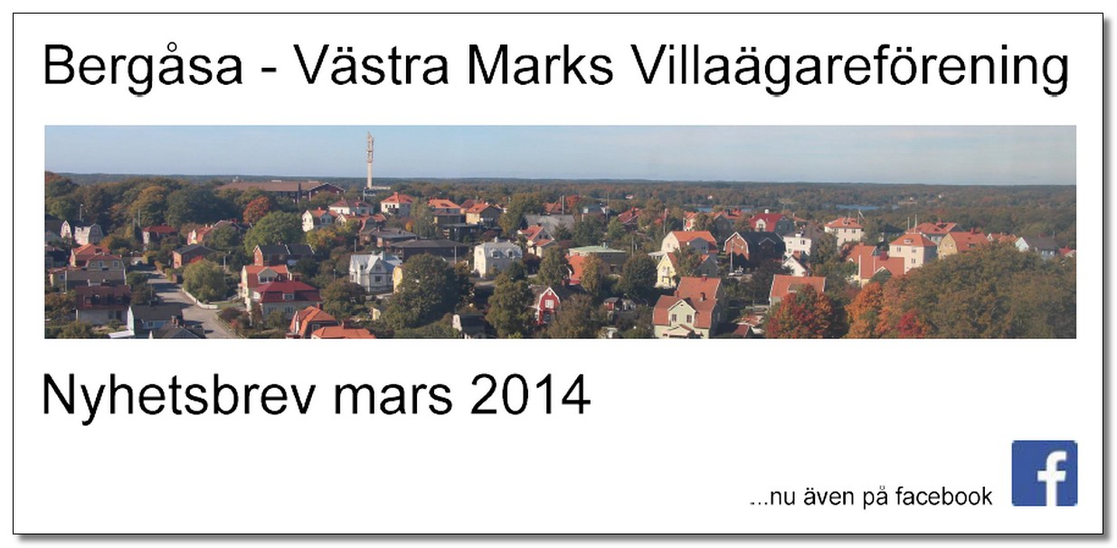 Villaföreningens Nyhetsbrev, Mars 2014
