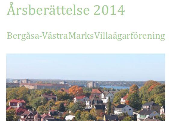 Villaföreningens årsberättelse 2014