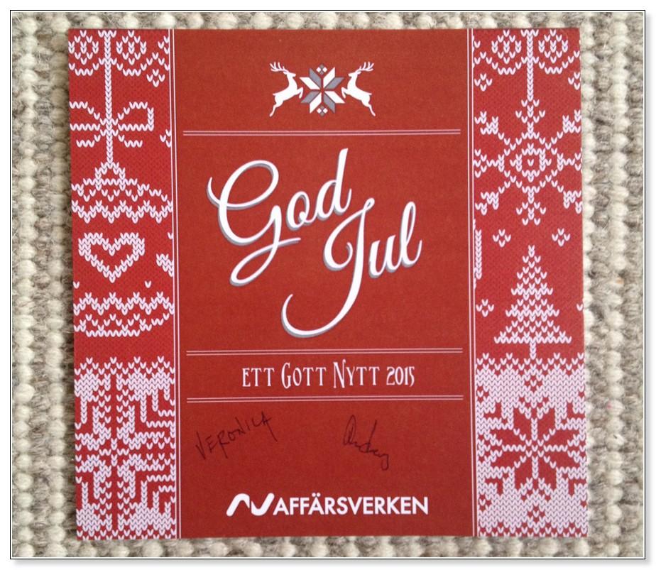 Julkort från Affärsverken, 2014
