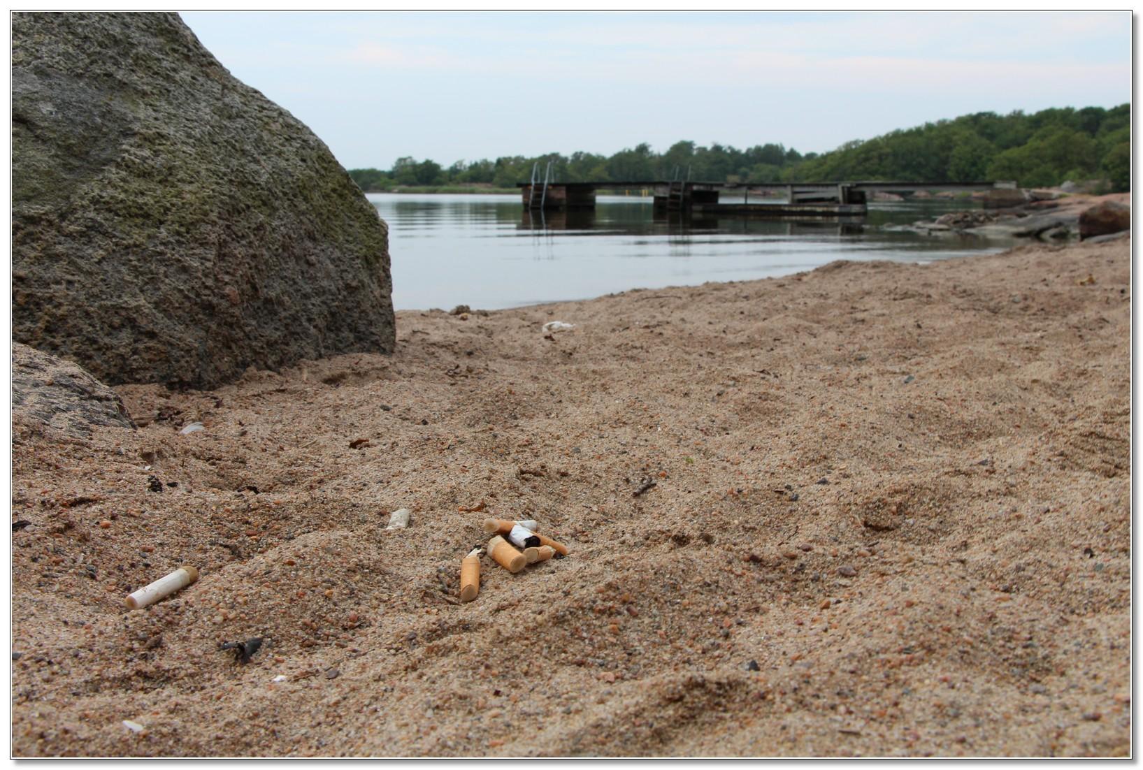 Kvarglömt på stranden...