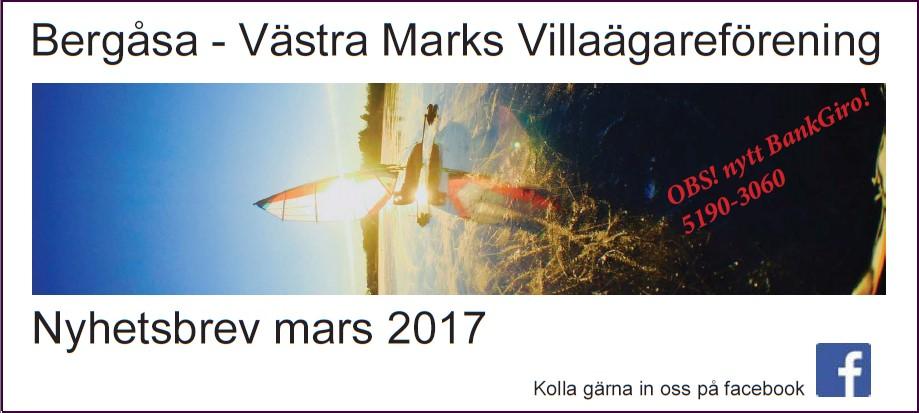 Villaföreningens Nyhetsbrev, Mars 2017